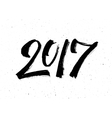 Calligraphy for 2017 New Year of the Rooster vector image