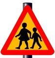 Children Crossing Traffic Sign vector image