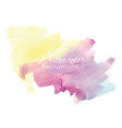 colorful watercolor background vector image