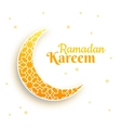 Eid Mubarak greeting card crescent moon on white vector image