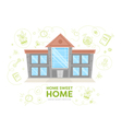 Flat cartoon building vector image