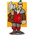 knight with axe cartoon vector image