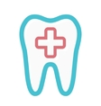 logo combination of medical cross and tooth vector image