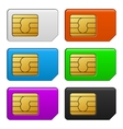 Sim Card Color Set vector image