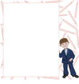 Student boy with list of space for text vector image
