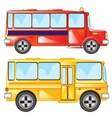 Two buses vector image