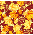 leaves seamless 2 vector image vector image