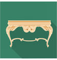 Digital golden vintage table isolated vector image