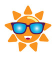 sun in sunglasses character vector image