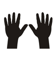 hands with five fingers spread vector image