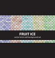brick pattern set fruit ice seamless brick vector image