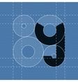 Round engineering font Symbol Y vector image