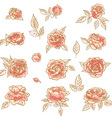 collection of hand drawn roses vector image