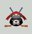 Bear Hockey Logo vector image vector image