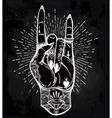 Rock festival poster vector image