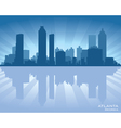 Atlanta Georgia skyline vector image
