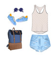 a set of summer outfit collection with vector image