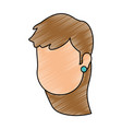 beautiful woman head avatar character vector image