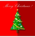 Christmas tree with toys card EPS 10 vector image