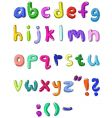 Colorful small letters hand written vector image