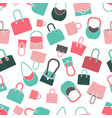 handbag seamless pattern vector image