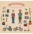 Hipster infographic concept vector image