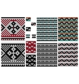 Set of knitting seamless pattern with cross vector image