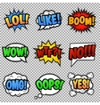 Speech bubbles tags collection vector image