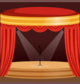 theater or music concert scene with red curtain vector image