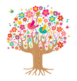 Isolated spring time tree vector image