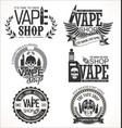 vape shop labels retro collection vector image