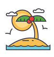 Tropical beach island summer vacation concept vector image