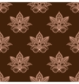 Light and dark brown persian paisley seamless vector image