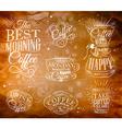 Coffee Signs kraft vector image vector image