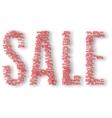 Percents inside inscription sale vector image