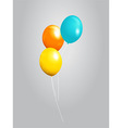 Balloons 3D over gray background vector image