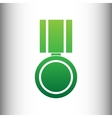 Medal sign Green gradient icon vector image