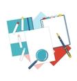 Flat design stationery vector image