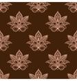 Light and dark brown persian paisley seamless vector image