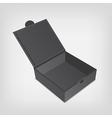 Open gray packaging design box mockup Gray vector image