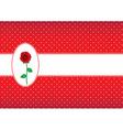 Polka dot card with rose vector image