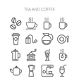 Set of simple icons for restaurant cafe coffee vector image