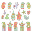 Set with christmas elves vector image