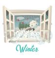 winter season outdoor view on garden or field vector image