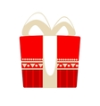 Christmas gift box for holiday vector image