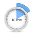 Ten minutes timer vector image vector image