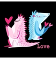 funny monster lovers vector image