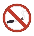 Prohibited smoke advertising vector image