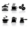 icons coffee vector image vector image