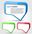Colorful 3d bubble speech vector image vector image